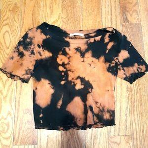 💙Bleach dyed crop top